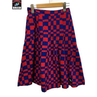 STUSSY ステューシー Sabi Checker Pleated Skirt 3 [▼]