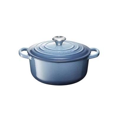 ル・クルーゼ(Le Creuset) 鋳物 ホーロー 鍋 シグニチャー ココット・ロンド 20 cm マリンブルー ガス IH オーブン 対