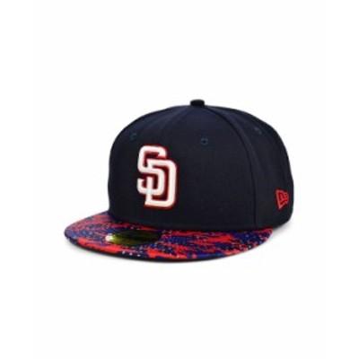 ニューエラ メンズ 帽子 アクセサリー San Diego Padres Star Viz 59FIFTY Cap Navy