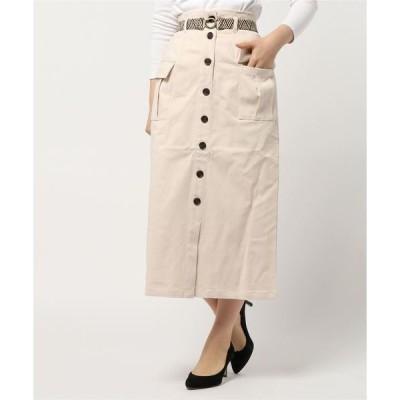 スカート CR ツイルストレッチベルト付きカーゴスカート