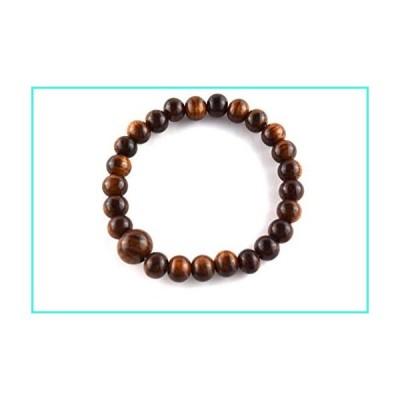 【新品】KYOTO ASAHIYA 8mm Japanese Sendan Wood Juzu Bracelet Rosary Prayer Mala Beads Meditation Chakra Bracelet (6.7, No Bossa)(並行輸入品