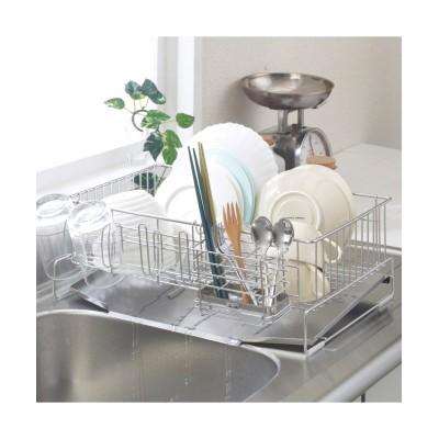 水が真ん中に流れる水切り 縦置きタイプ(箸立て。グラスホルダー付)3―4人用 水切りカゴ・ラック・吸水マット(ニッセン、nissen)