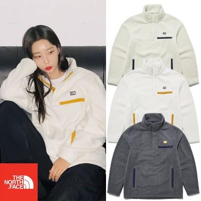 THE NORTH FACE NT7LL54 SHERPA TECH L / S SNAP TEEシェルファテック長袖スナップティー基本男性女性韓国のファッション