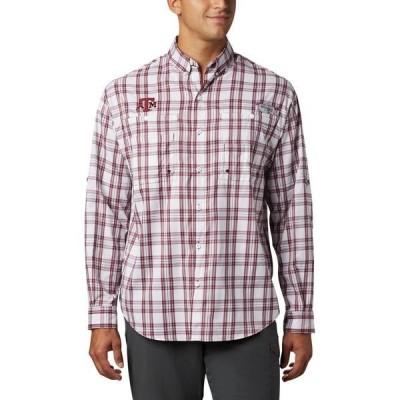 コロンビア シャツ トップス メンズ Columbia Sportswear Men's Texas A&M University Super Tamiami Button Down Shirt Maroon