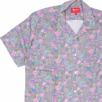 新品 シュプリーム SUPREME Mini Floral Rayon S/S Shirt レーヨン 半袖シャツ DUSTY PURPLE パープル TOPS