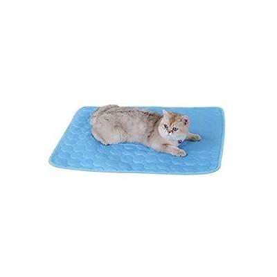 Suerba ペット ひんやりマット 犬猫兼用 クールマート 冷感アップ 夏 冷却マット ひえひえ 涼感 熱中症対策 グッズ ブルー 70cmx55c