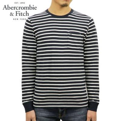 アバクロ ロンT メンズ 正規品 Abercrombie&Fitch 長袖Tシャツ クルーネックTシャツ LONG-SLEEVE ICON POCKET TEE 124-228-0124-204