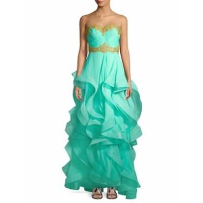 リーム アクラ レディース ワンピース Ruffle Skirt Strapless Gown