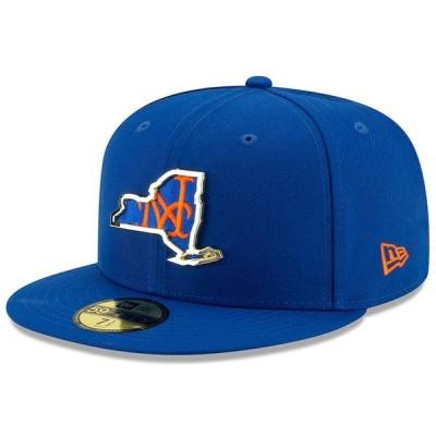 ニューエラ 帽子 アクセサリー メンズ New York Mets New Era Metal & Thread State 59FIFTY Fitted Hat Royal