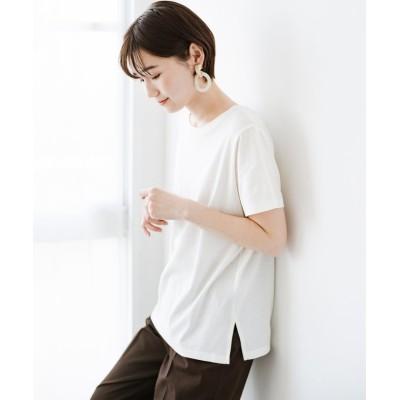 (haco!/ハコ)汗染み軽減加工で安心!1枚でも重ね着にも便利なシンプルTシャツ by ZAMPA/レディース ホワイト