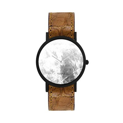 South Lane Stainless Steel Swiss-Quartz Watch with Leather Calfskin Strap, Black, 20 (Model: AW18-60) 並行輸入品