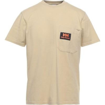ヘリーハンセン HELLY HANSEN メンズ Tシャツ トップス T-Shirt Beige