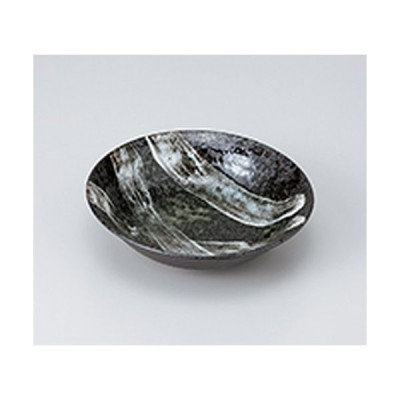 和皿 和食器 / 窯変白刷毛 リム4.5浅鉢 寸法:14.3 x 3.9cm