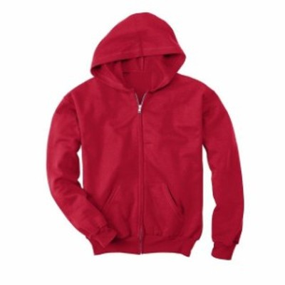 Hanes  ファッション トップス Hanes Youth 7.8 Oz. ComfortBlend EcoSmart 50/50 Full-Zip Hood *CLEARANCE SALE*