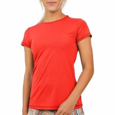ソフィベラ Sofibella レディース Tシャツ トップス UV T-Shirt Berry