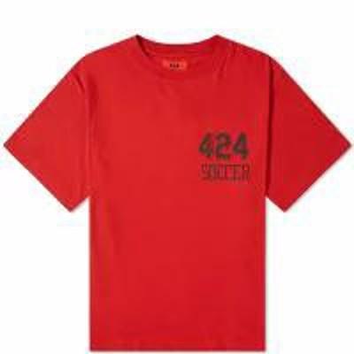 424 メンズトップス 424 Soccer Tee Red