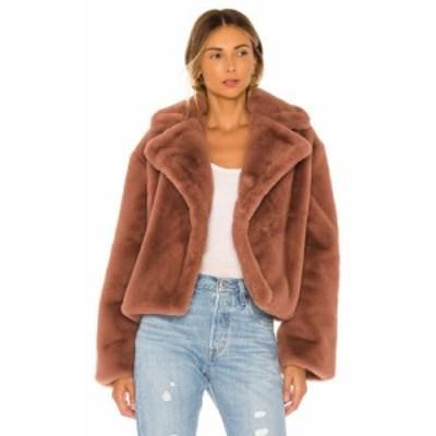 ビービーダコタ BB Dakota レディース ジャケット アウター Big Time Plush Faux Fur Jacket Rose Taupe