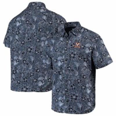 Tommy Bahama トミー バハマ スポーツ用品  Tommy Bahama Virginia Cavaliers Navy Sport Tiki Luau Button-Down Shirt