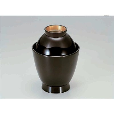 業務用漆器 富士型吸椀 溜つば金    9.2φ×12.2cm  230cc