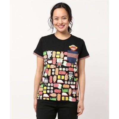 tシャツ Tシャツ 寿司柄T大人