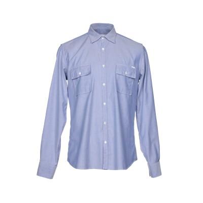 アリーニ AGLINI シャツ ブルー 41 コットン 97% / ポリウレタン 3% シャツ