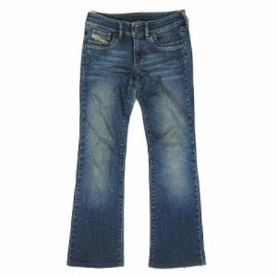【中古】ディーゼル DIESEL デニム ブーツカット ジーンズ パンツ サイズ27 インディゴ ◎9 レディース