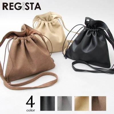 【送料無料】 巾着バッグ メンズ レディース 巾着 ショルダーバッグ 2way 肩掛け ミニバッグ バッグ スムース ヌバック カバン 鞄 シンプル