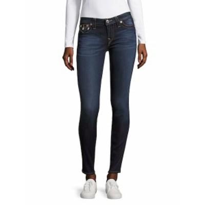 トゥルー リリジョン レディース パンツ デニム Skinny Whiskered Jeans -Mid Wash