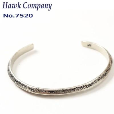 ネコポス発送 ホークカンパニー Hawk Company 7520 真鍮 バングル  細め シルバー角形 メンズ レディース プレゼント ユニセックス 【通常商品】