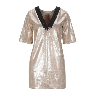 LE VOLIÈRE ミニワンピース&ドレス ゴールド S ポリエステル 100% ミニワンピース&ドレス