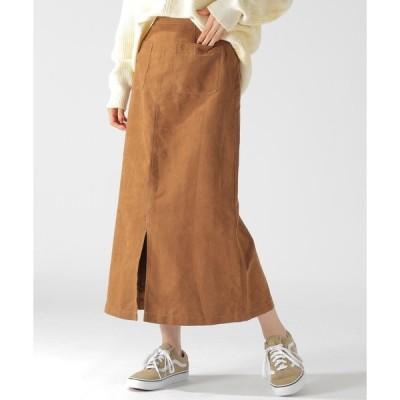 スカート フェイクスエードスカート