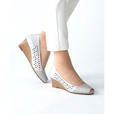 ANDEX shoes product / coca / コカ レーザーカット オープントゥ ウェッジソール パンプス 120006 WOMEN シューズ > パンプス