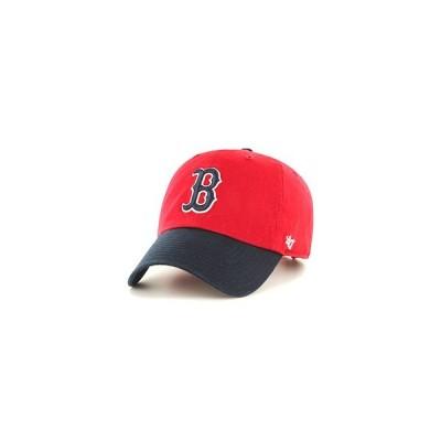 フォーティーセブン 47 キャップ 帽子 Red Sox'47 CLEAN UP -RED×NAVY- メンズ レッド/ネイビー