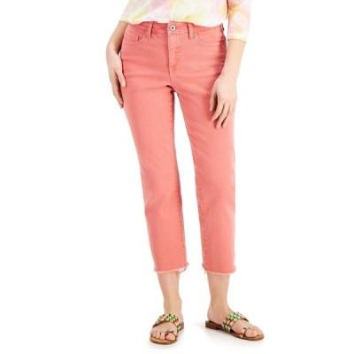 スタイルアンドコー デニムパンツ ボトムス レディース Petite High-Rise Straight-Leg Crop Jeans, Created for Macy's Frosted Rose