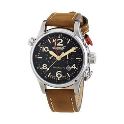 Ingersoll Men's Automatic Watch Chronograph Display and Leather Strap IN3218BK 並行輸入品