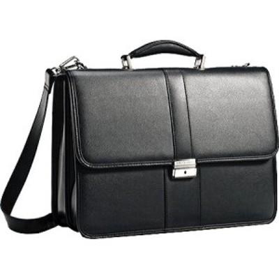 サムソナイト Samsonite メンズ ビジネスバッグ・ブリーフケース バッグ Leather Flapover Briefcase Black