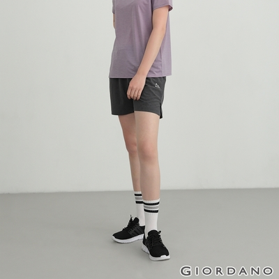 GIORDANO 女裝3M輕薄運動短褲 - 34 深花灰