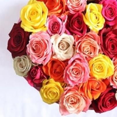 【産地直送】バラの花束 ミックス30本