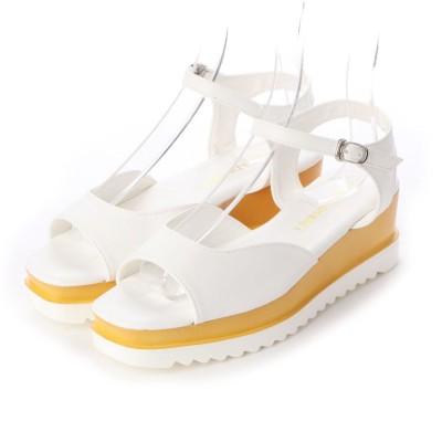 SFW リバティードール Liberty Doll シルエットと履き心地を追求したプラットフォームストラップ美脚サンダル/4009 (ホワイト)