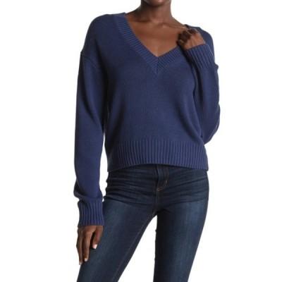 360カシミア レディース ニット&セーター アウター Bailey V-Neck Sweater NAVY