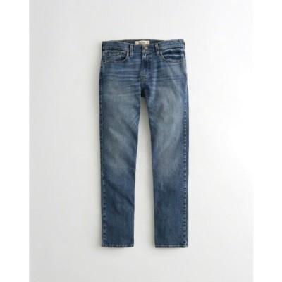 Hollister ホリスター メンズ ジーンズ スリムストレート ジーンズ Hollister Slim Straight Jeans ライトミディアムウォッシュ