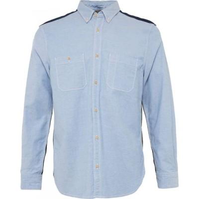 フレンチコネクション French Connection メンズ シャツ トップス City Patchwork Shirt Blue