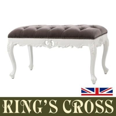 輸入家具 デザイナーズ アンティーク ホワイト レッグフレンチ ロココ スツール アンティーク調 スツール いす 椅子 チェア 木製 1160-M-18F37B