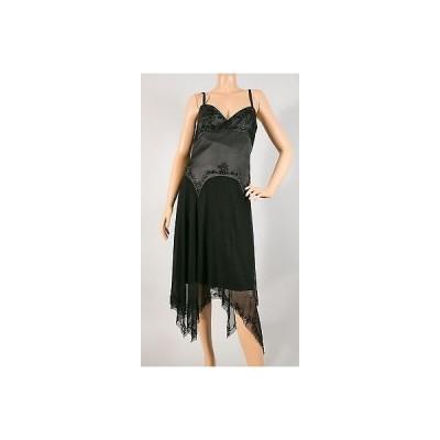 ドレス ランドリーバイシェリーシーガル Laundry by Shelli Segal black evening dress w/beads size 12
