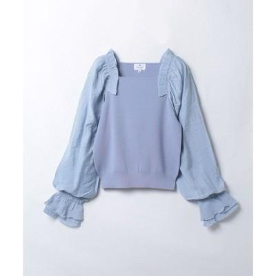 LANVIN en Bleu(Wear) / フリルショルダーコンビニット