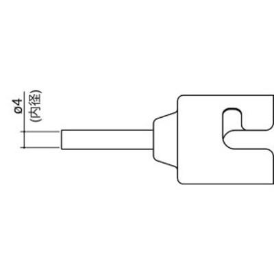 N51-02 白光 ノズル シングル 4MM WO店