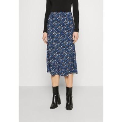 グラマラス レディース スカート ボトムス CARE FLORAL PRINTED MIDI SKIRT - A-line skirt - navy blue/ orange navy blue/ orange