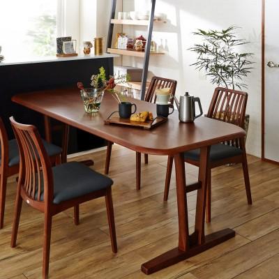 【イージーオーダー】脚が選べる天然木のダイニングテーブル<2人用/4人用/6人用>