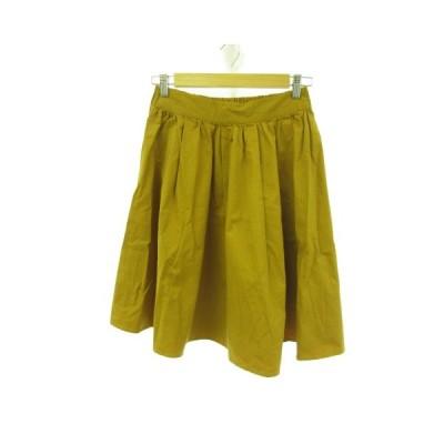 【中古】LIPSTAR 膝丈スカート フレア からし色 2 *E537 レディース 【ベクトル 古着】