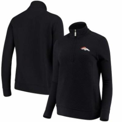 Tommy Bahama トミー バハマ スポーツ用品  Tommy Bahama Denver Broncos Womens Navy Gridiron Half-Zip Pullover Sweatshi